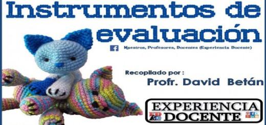 Instrumentos de Evaluación PORTADA