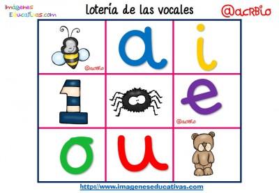 Lotería Bingo de las vocales (1)