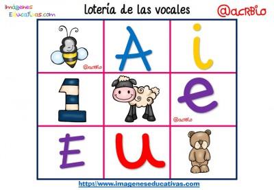Lotería Bingo de las vocales (2)