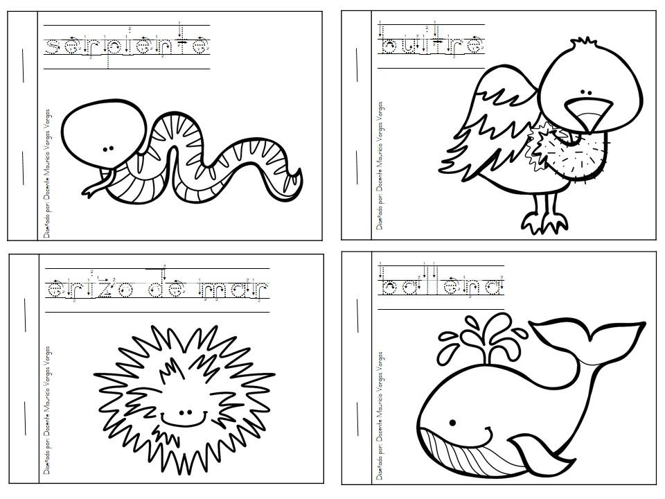 Dibujos De Animales Acuaticos Para Colorear E Imprimir: Mi Libro De Colorear De Animales Salvajes (4)