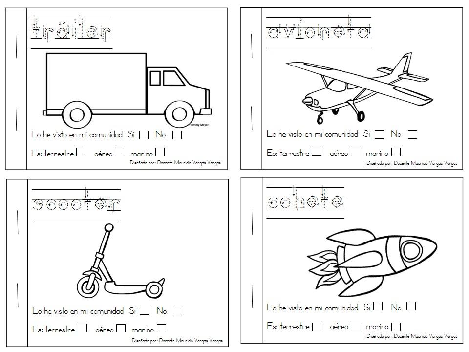 Mi libro de colorear de medios de transporte (5) - Imagenes Educativas