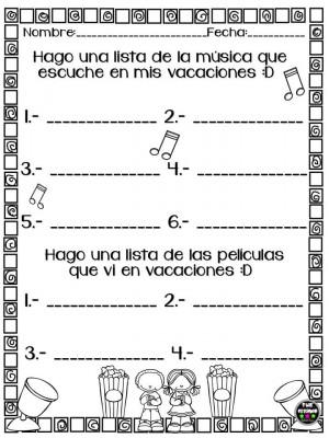 Mini cuadernillo Mis Vacaciones (4)