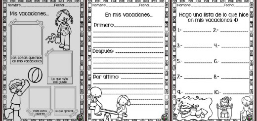 Mini cuadernillo Mis Vacaciones PORTADA