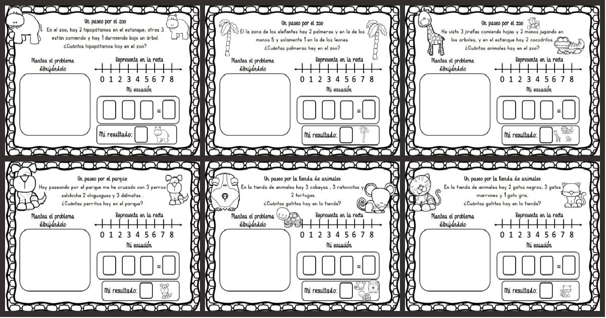 Problemas de razonamiento matemático en preescolar - Imagenes Educativas