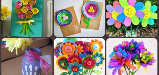 Regalos y manualidades dia de la madre Flores PORTADA