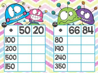 Súper bingos de sumas (10)