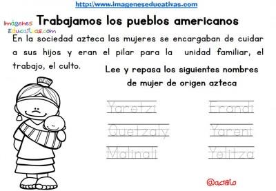 Tabajamos la lecto-escritura centro de interes los Aztecas (5)