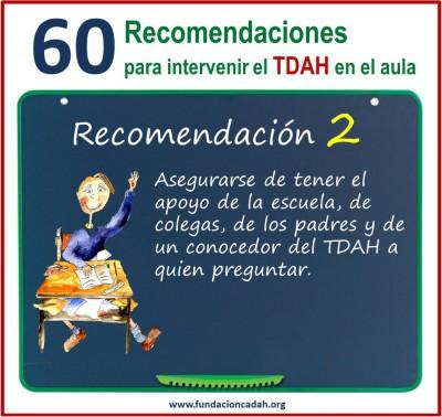 60 recomendaciones para intervenir el TDAH en el aula (2)