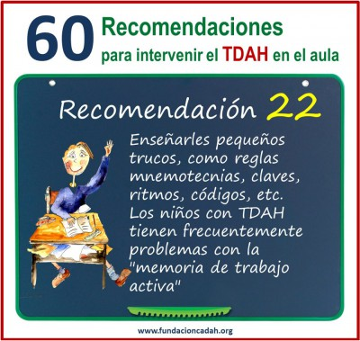 60 recomendaciones para intervenir el TDAH en el aula (22)