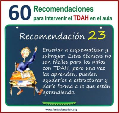 60 recomendaciones para intervenir el TDAH en el aula (23)