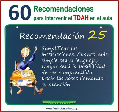 60 recomendaciones para intervenir el TDAH en el aula (25)