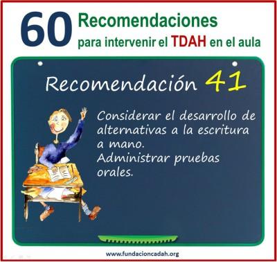 60 recomendaciones para intervenir el TDAH en el aula (41)
