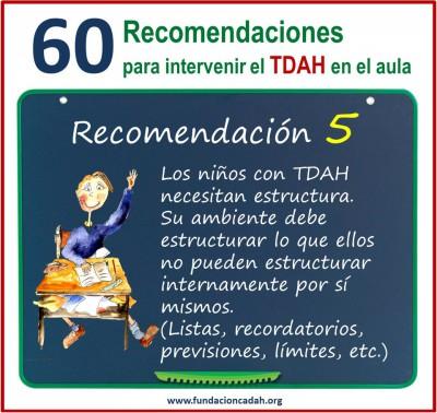 60 recomendaciones para intervenir el TDAH en el aula (5)