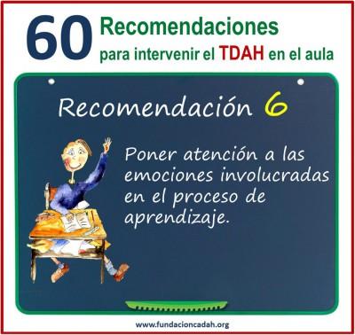 60 recomendaciones para intervenir el TDAH en el aula (6)
