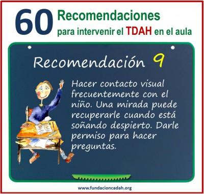 60 recomendaciones para intervenir el TDAH en el aula (9)