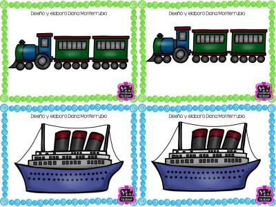 Memorama y tarjetas MEDIOS DE TRANSPORTE (21)