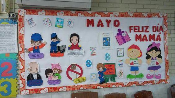 Construyendo El Periodico Mural Mes De Mayo Mes De La Primavera Y De
