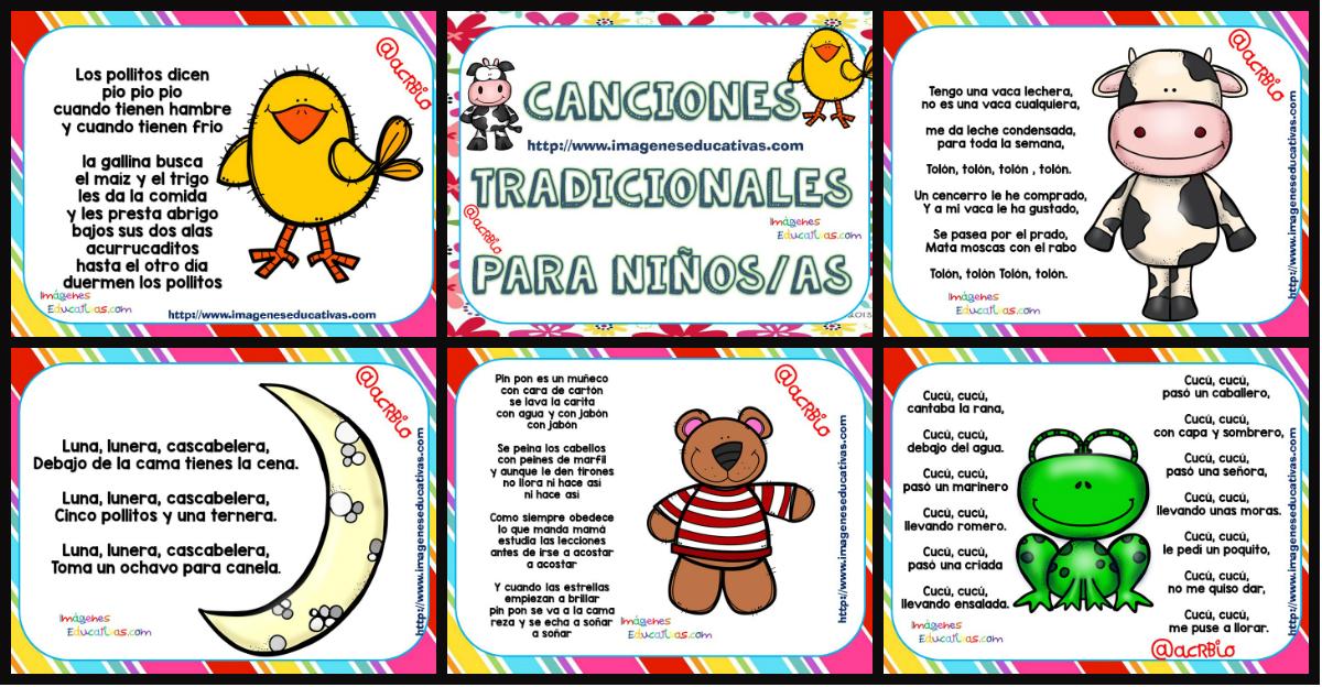 Canciones Tradicionales Para Niños Y Niñas Para Cantar Y Bailar Imagenes Educativas