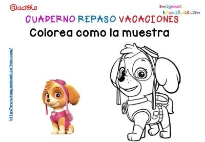 Cuderno de repaso para vacaciones Patrulla Canina (10)