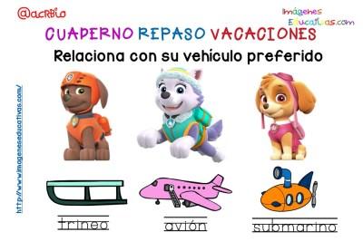 Cuderno de repaso para vacaciones Patrulla Canina (14)