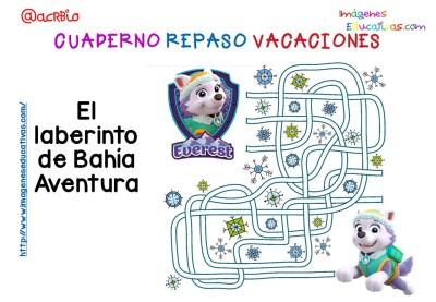 Cuderno de repaso para vacaciones Patrulla Canina (3)