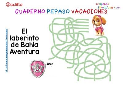 Cuderno de repaso para vacaciones Patrulla Canina (4)