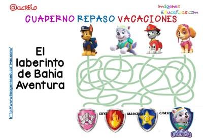 Cuderno de repaso para vacaciones Patrulla Canina (5)