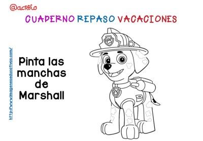 Cuderno de repaso para vacaciones Patrulla Canina (7)