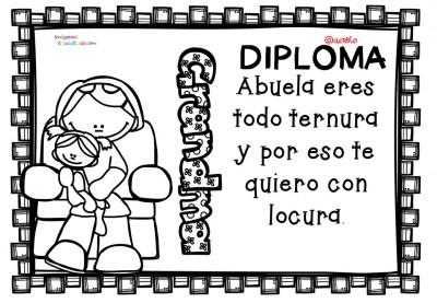Diplomas para colorear del día de las madres. 10 de Mayo (3)