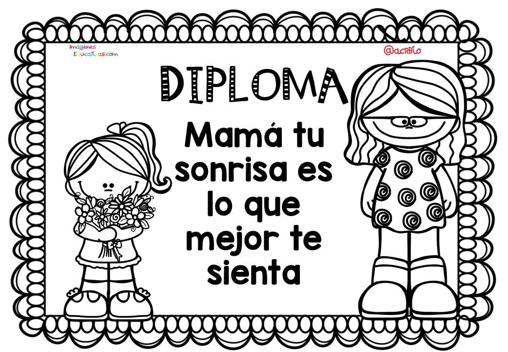 Diplomas Para Colorear Del Día De Las Madres 10 De Mayo 5