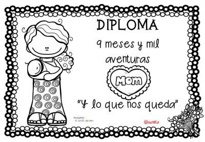 Diplomas para colorear del día de las madres. 10 de Mayo (7)