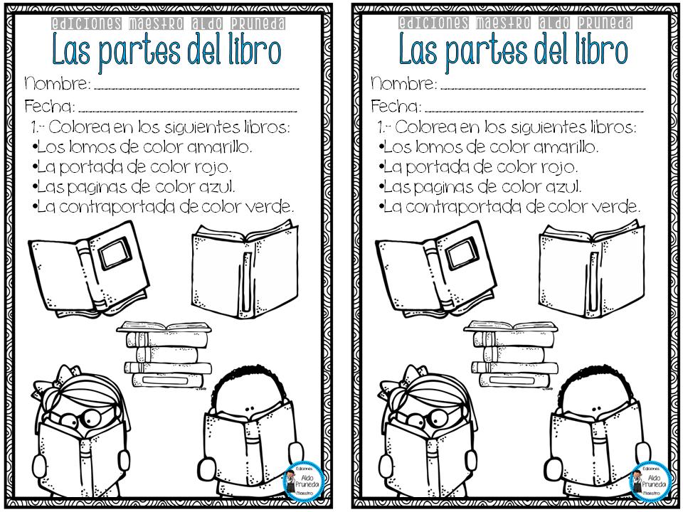 Partes Del Libro Imagenes Educativas