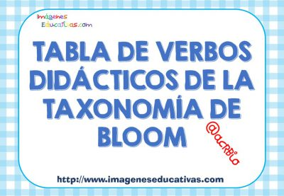 Tablas de verbos didácticos de la TAXONOMÍA DE BLOOM (1)