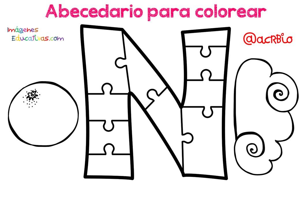 Alfabeto Para Colorear: Abecedario Para Colorear (14)