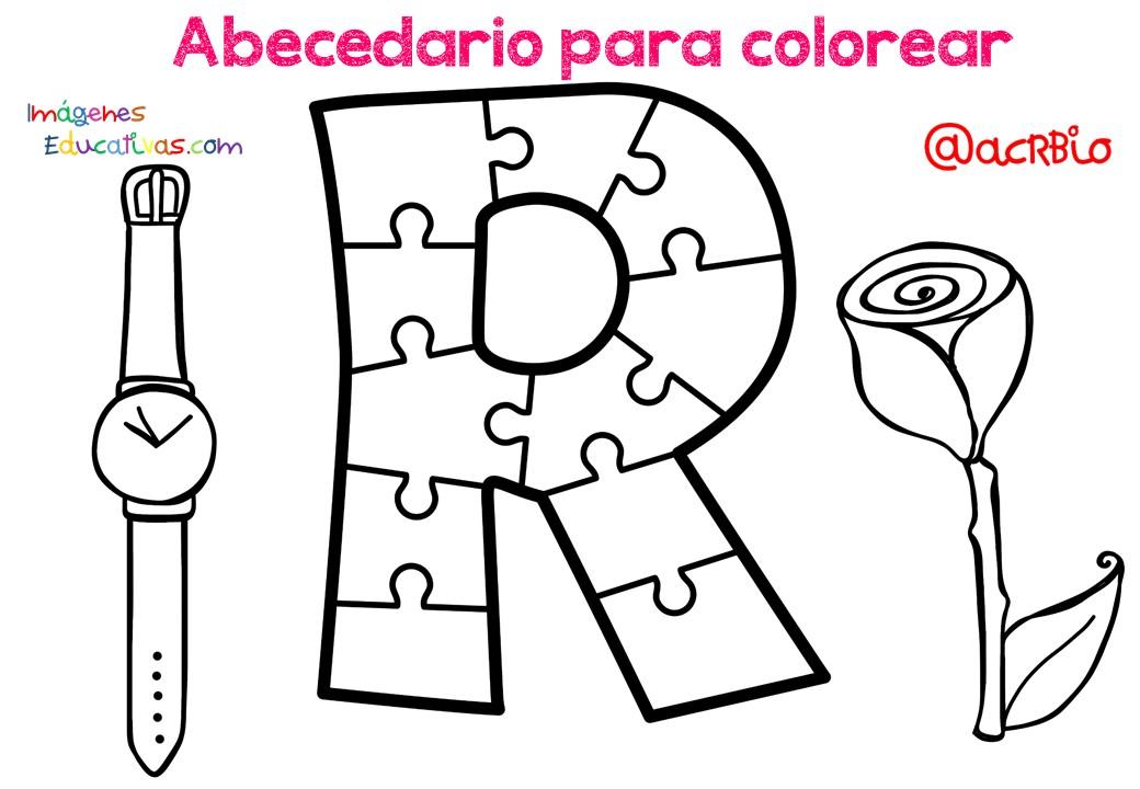 Abecedario Para Colorear 19 Imagenes Educativas
