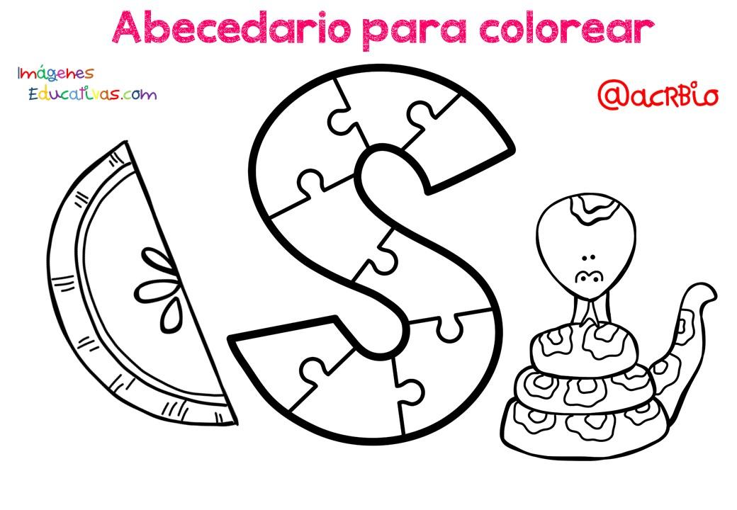 Imagenes Educativas Para Descargar: Abecedario Para Colorear (20)