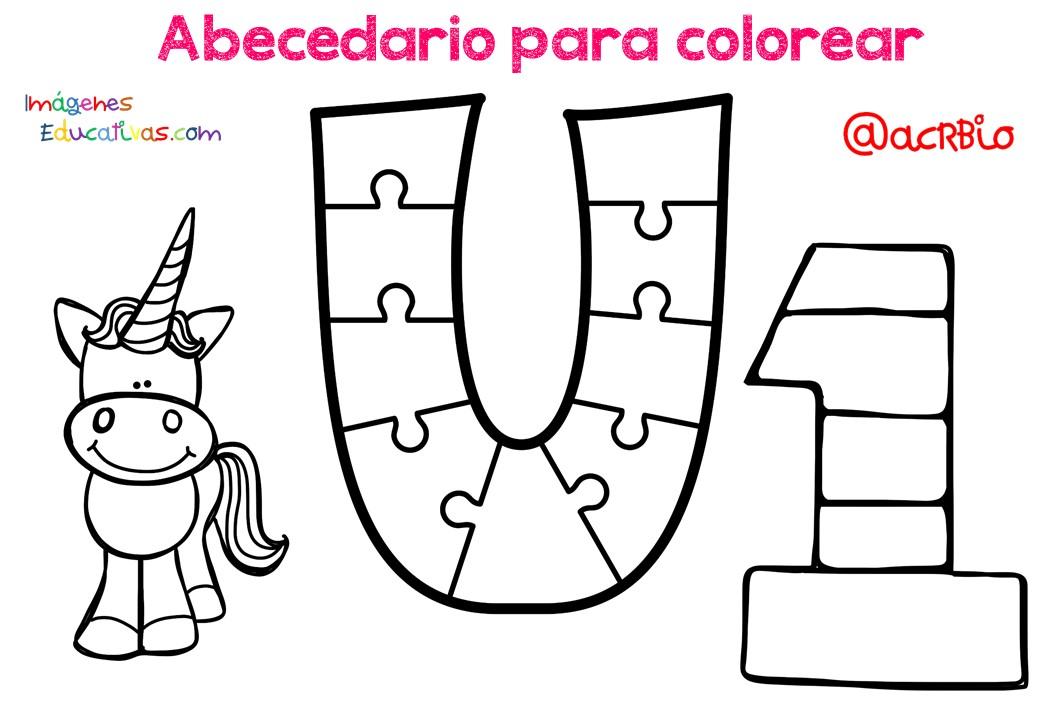 Abecedario Para Imprimir Y Colorear: Abecedario Para Colorear (22)
