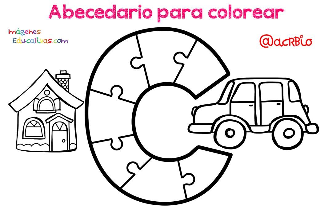 Alfabeto Para Colorear: Abecedario Para Colorear (3)