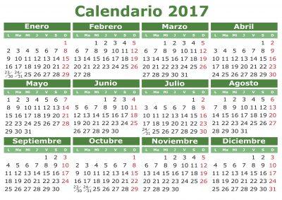 Supercolecci n de calendarios y planificadores 2017 gran for Festivos alicante 2017