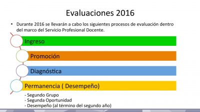 Calendario de Evaluaciones SEP INEE 2016 (2)