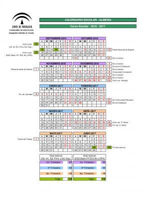 Calendario escolares 2016-2017  Almería