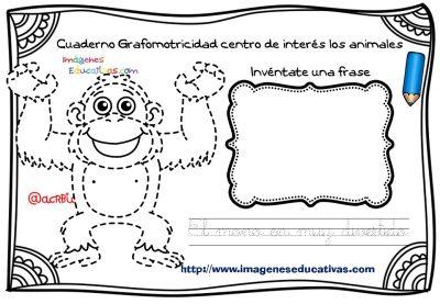 Cuaderno Grafomotricidad centro de interés los animales  (10)