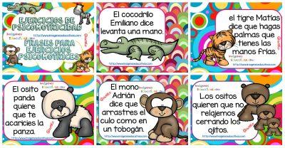Frases para ejercicios psicomotrices baby zoo PORTADA