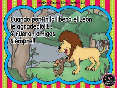 EL LEON Y EL RATON FABULA (11)