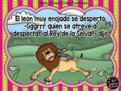 EL LEON Y EL RATON FABULA (4)