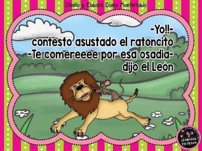 EL LEON Y EL RATON FABULA (5)