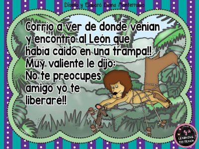 EL LEON Y EL RATON FABULA (9)