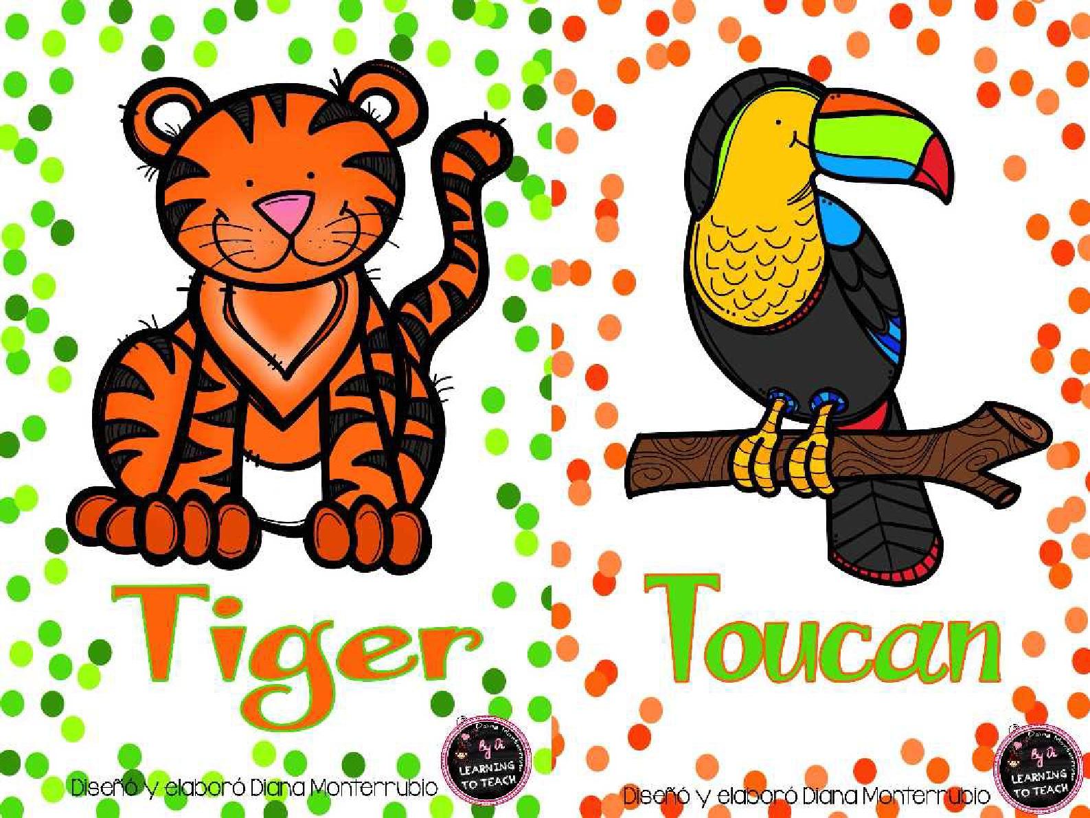 Tarjetas De Animales De Zoológico Y Hábitats (19) - Imagenes Educativas