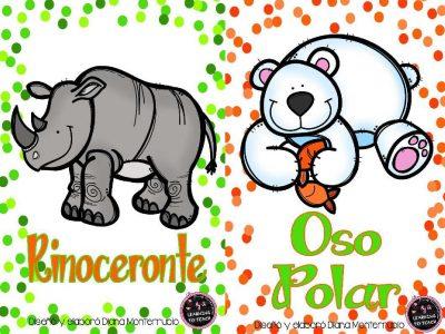 Tarjetas De Animales De Zoológico Y Hábitats (5)