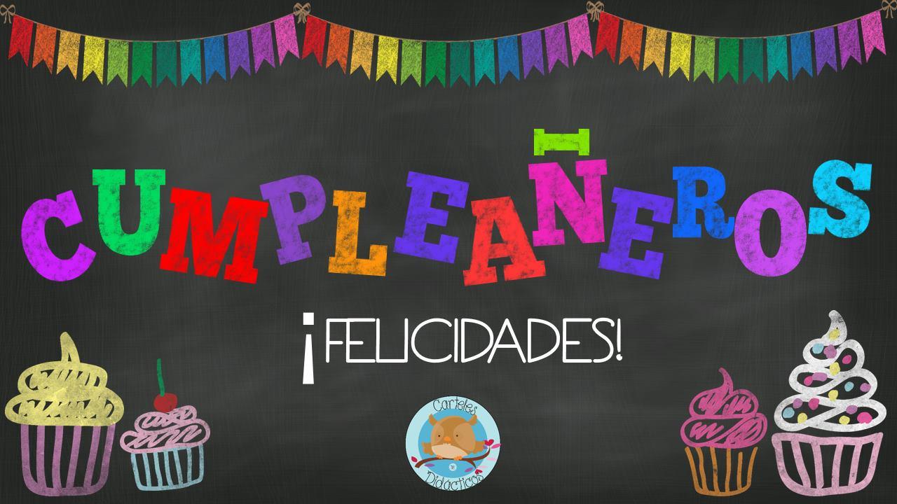 Carteles Y Tarjetas De Feliz Cumpleaños Para Colorear: Carteles Didácticos Para Los Cumpleaños Español E